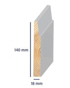 Grenen Plint Modern 18x140 gegrond