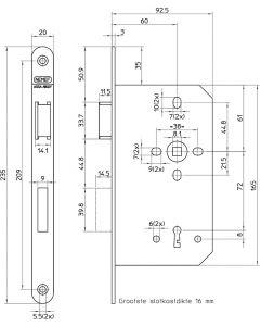 Deurslot 649/4-Kv-60Mm Rs