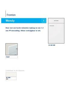 Bribus Vaatwasserdeur Wit 567 mm hoog + blende 139 mm hoog
