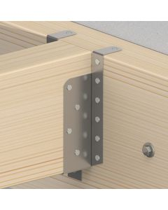 GB raveeldrager met strip 46x153 mm verzinkt