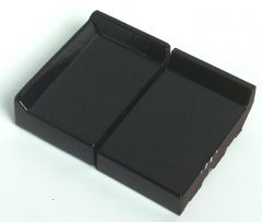 Eindraamdorpel 105x105x32mm St. Joris ZW02 zwart verglaasd links opstaande kant