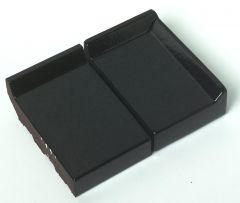 Eindraamdorpel 105x105x32mm St. Joris ZW02 zwart verglaasd rechts opstaande kant