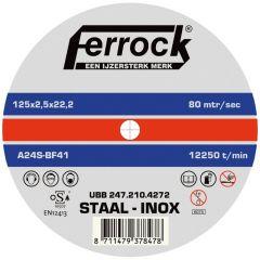 Ferrock Doorslijpschijf Metaal 125X2.5
