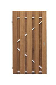Tuindeur Bangkirai 180x100cm recht stalen frame universeel CarpGarant