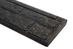 Beton onderplaat 26x3,5x184cm antraciet ongecoat tweezijdig rotsmotief smal CarpGarant