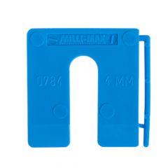 Milli-Max Uitvulplaatjes 4Mm Blauw 100St