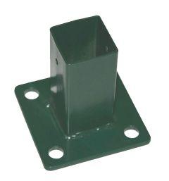 Bodemplaat vierkant 10x10cm groen t.b.v. stalen paal 40x40mm