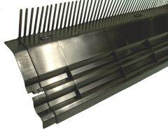 Kombidakvoet zwart 100cm 55mm kamhoogte H=165mm