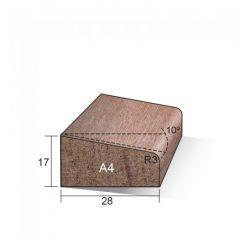 Meranti Glaslat Gegrond 17 x 28 mm A4