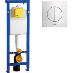 Wisa xs WC Inbouwreservoir Inclusief Argos bedieningspaneel Dual Flush wit