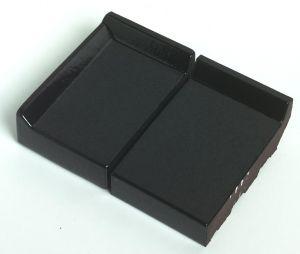Eindraamdorpel 160x105x32mm St. Joris ZW02 zwart verglaasd links opstaande kant