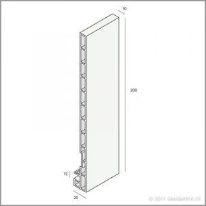 2821 (Nieuw) Keralit Dakrand 200mm Wit Ral 9016
