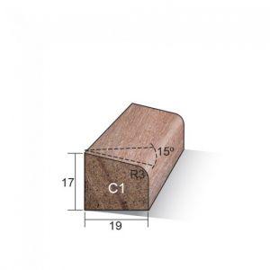 Meranti Glaslat 17 x 19 mm C1 FSC