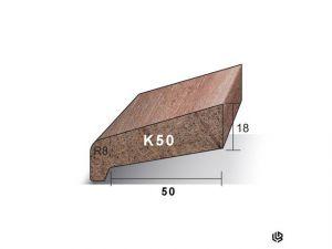 Meranti Neuslat Gegrond 18 x 64 mm K50
