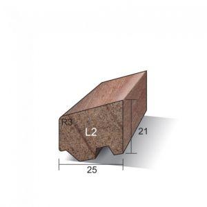 Meranti Ventilerende Glaslat Gegrond 21 x 25 mm L2