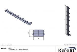 2848 Keralit Tussenstuk voor dakrandpaneel
