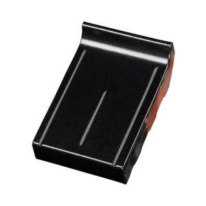Terca Eindraamdorpel 16 cm Zwart Verglaasd 105x160x30mm kering 20mm met groef