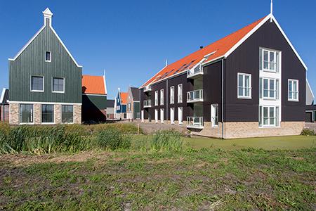 Project nieuwbouw diverse woningen en appartementen in De Rijp